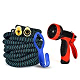 GYMAN Garden Hose Expanding Water Hose Kink-Free 50 Ft for Watering Plants,Showering Pets