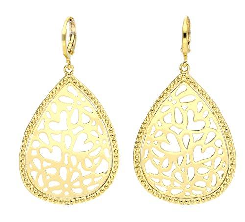 Guess Damen-Ohrhänger RIVIERA teilvergoldet-UBE61032 (Guess Halskette Damen Gold)