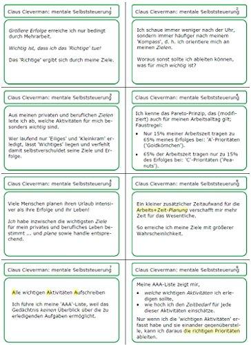 Zeitmanagement, Selbstorganisation, Selbstmanagement: 56 Motivationskarten / Mentalkarten