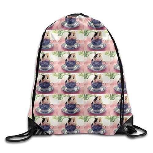 Dutars Süßer Meerschweinchen-Rucksack mit Kordelzug zum Zuziehen, für Wandern, Schwimmen, Yoga