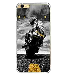 Fuson Amazing racing Bike Designer Back Case Cover for Apple iPhone 6S (Bike Car Auto Scooter Automobiles)