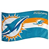 NFL MIAMI DOLPHINS LARGE FLAG 5FT X 3 FT AMERICAN FOOTBALL FLAG