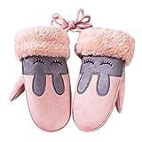 Weihnachtsgeschenk Kinder Handschuhe SHOBDW Winter Kinder Mädchen Jungen Twist Handschuhe Warm Vollfinger Handschuhe (Rosa)