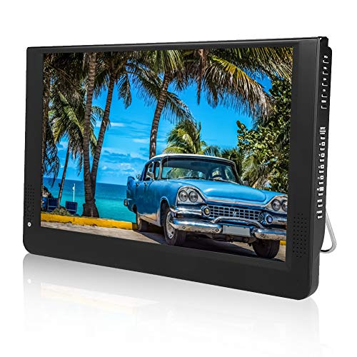 Bewinner LEADSTAR 12-Zoll Auto Monitor DVD-Player Tragbarer TV-System mit Bildschirm Fernbedienung 1080P Tragbares Mini-Analog-TV/ATV LED-DVB-T / T2-Digitalfernsehsender (Auto-tv-dvd-monitore)