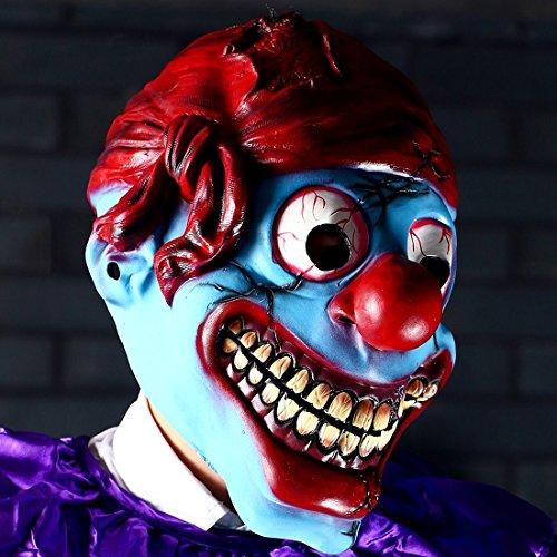 hyalinität & Dora Latex Clown Maske für Erwachsene, Halloween-Kostüm Party Masken clown (Für Dora Erwachsene Kostüm Halloween)