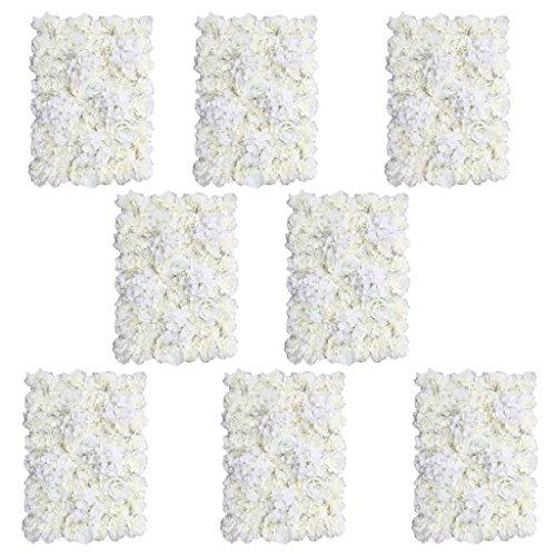 8 Stück 40×60cm Künstliche Seiden Blume Wand Säule Blumenwand Hochzeit Hauptstraße Garten Dekor (Wand-dekor-garten)