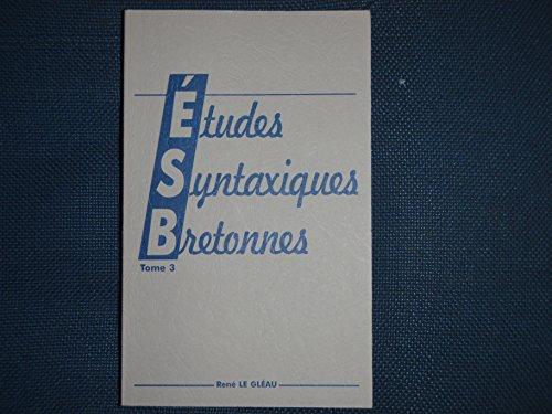 Études syntaxiques bretonnes