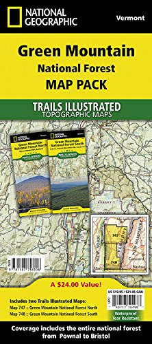 Green Mountain National Forest [map Pack Bundle] (National Geographic Trails Illustrated Map) - England New Road Map