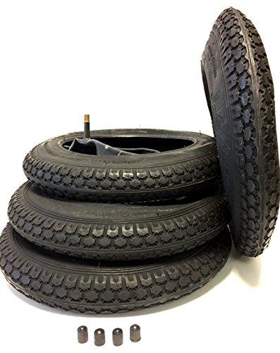 4x Set Reifen und Schläuche 12 1/2 x 2 1/4 (12 Zoll) 62-203 für Kinderwagen, Buggy, Bollerwagen, Roller, Dreirad, Fahrrad-Anhänger