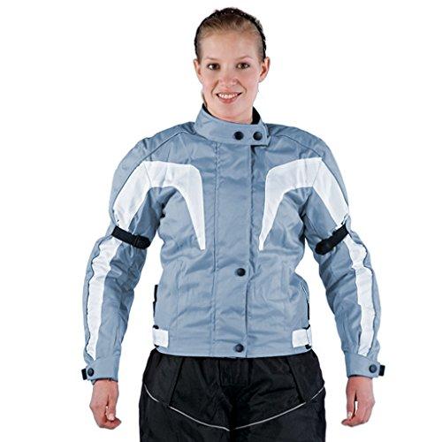 Lemoko Damen Textil Motorradjacke hellblau Gr XXXL