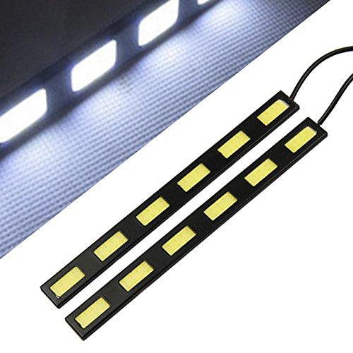Nolunt(TM) 2 pezzi impermeabile COB auto 6 LED Daytime Running Lights Led luce di nebbia