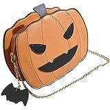 VALICLUD Kürbis Umhängetasche Halloween Teufel Teufel Umhängetasche Pu Leder Handtasche Trick Or Treat Tasche
