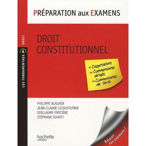 Droit constitutionnel : Préparation aux examens