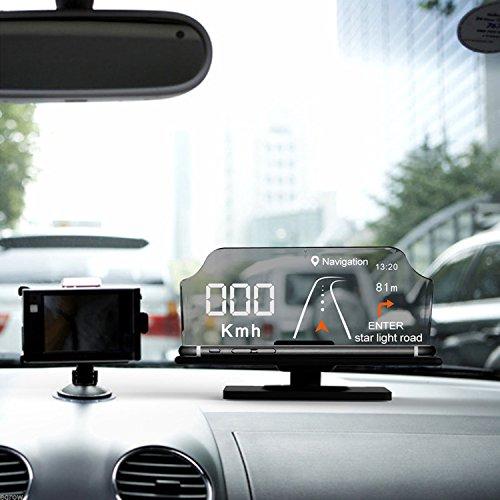 amenitee Smartphone conductor Heads Up display HUD coche teléfono GPS navegación imagen reflector para todos los Smartphones