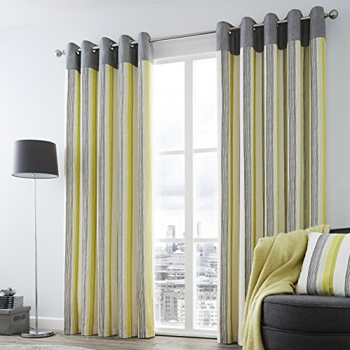 curtains uk green striped co slp amazon