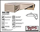 RHS300 Loungemöbel Abdeckschutz für L-Form, passt am besten am Set von max. 295 x 295 cm. Abdeckung für Lounge Eckset, Schutzhülle in L-Form für Lounge Sets, Schutzplane, Regenschutz Ecklounge