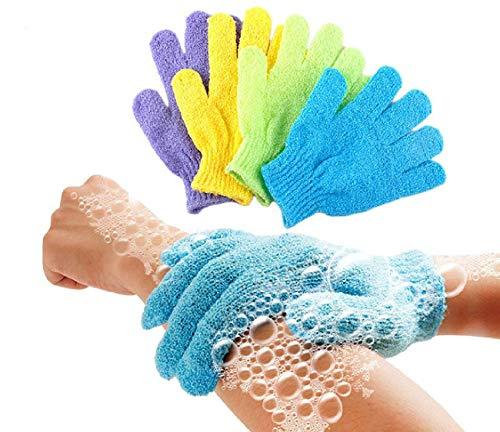 The Nourisher Bath Glove-Body Scrubber Gloves Pair, Gloves, Bath Gloves, 1 Glove Set, Cellulite Scrubber, Shower Gloves, Reduce Acne Scars, Exfoliator Glove Men and Women, Exfoliate at Home