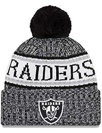 New Era NFL Sideline 2018 Bobble Beanie Oakland Raiders 4d405304c314