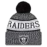 New Era NFL Sideline 2018 Bobble Beanie Oakland Raiders