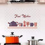 Dalxsh Cibo Cucina Adesivo Da Parete Adesivo Pvc Home Decor AdesiviRemovabletImpermeabili E Antiolio Sul Mobiletto30X45Cm