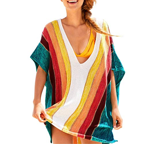 Paolian donna sexy beach rainbow cover up sarong wrap bikini handmade pareo smock