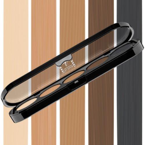 Beste Lidschatten Palette Make-Up Atelier Paris T03S, Profi-Augenpalette mit 5 Farben, hoch pigmentierte Lidschatten (Atelier Paris Make-up)