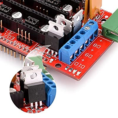 Kuman K17 3D Printer Controller Kit Mega 2560 R3 +RAMPS 1.4 + 5pcs A4988 Stepper Motor Driver with Heatsink + LCD 12864 Graphic Smart Display Controller with Adapter For Arduino RepRap