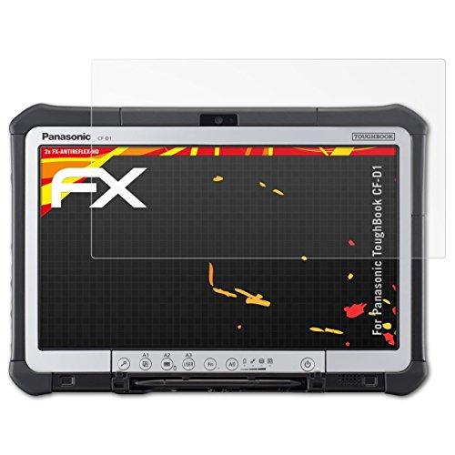 atFolix Schutzfolie kompatibel mit Panasonic ToughBook CF-D1 Displayschutzfolie, HD-Entspiegelung FX Folie (2X)