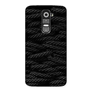 Delighted Rope Pattern Back Case Cover for LG G2