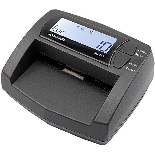 Olympia NC 335 Automatisches Geldscheinprüfgerät (Updatebar, LCD-Display, Geldzähler integriert, Mobiler Geldscheinprüfer für Euro-Noten) (Falschgeld-scanner)