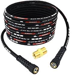 20m DN8 400bar Double fil d'acier Pour Kärcher HD HDS M22 x M22 Tuyau Flexible Haute Pression Nettoyeur Extension