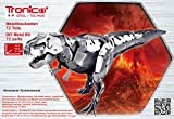 Metal Construction Model Kit Tyrannosaurus Rex Dinosaur 72 durable metal parts + picture instructions mechanical building set education learning age 10+ male boy STEM Tyranno Dino Tronico