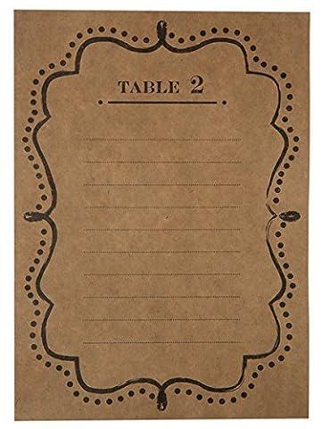 SANTEX 5168-26, Sachet de 10 Plans de table numérotés de 1 à 10, Kraft