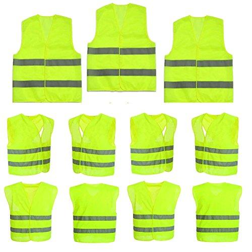 10-Stck-Warnweste-Pannenweste-Sicherheitsweste-Neon-Gelb-Warnwesten-Unfall-Weste-360-Grad-Sichtbarkeit-STAR-LINE-Knitterfrei-Waschbar-Sicherheit-weste-Weste-KFZ-EN-471