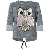 BEZLIT Mädchen Pullover Wende-Pailletten Sweatshirt 21584, Farbe:Grau, Größe:164