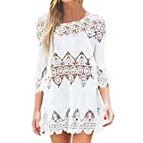 Best Summer Dresses - SUNNOW® Womens Sexy Beach Cover Up Floral Lace Review