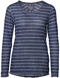 c60997ca1fd8ba DAILY'S JUDY Damen Langarmshirt in Überlänge mit Streifen und  Rundhalsausschnitt aus Baumwolle und Polyester - soziale