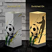 Football Paper Design Shadow Lamp, USB & 3AAA Battery Powered Touch Switch Desk Night Light for Kids Bedroom, Living Room, Cafe, Bookcase
