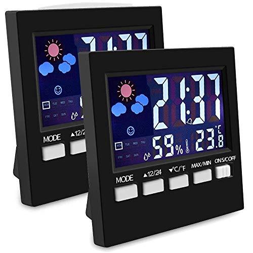 EEEKit - Paquete 2 termómetro Interiores higrómetro