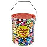 Chupa Chups Lecca Lecca Latta, Confezione da 150 Lollipops Monopezzi, Gusti Assortiti, Fragola, Panna-Fragola, Vaniglia, Cola, Lampone, Ciliegia, Arancia