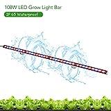 TOPLANET 108W LED Planzenlampe IP65 Waterproof LED Grow Lampe with Rot/Blau Spectrum für Gewächshaus Hydroponik System Gemüse 115cm