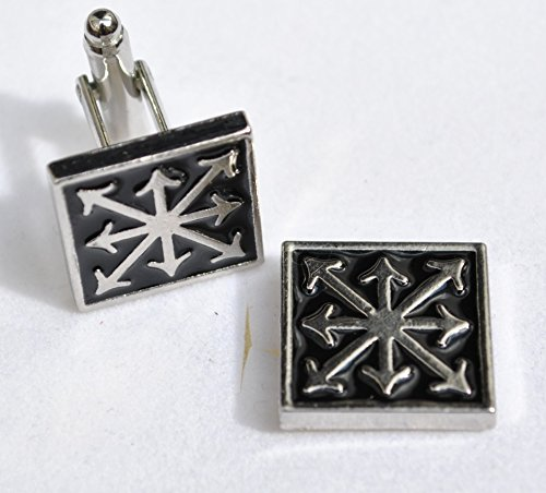 Battle Mats Warhammer 40k Cufflinks with Chaos Star!