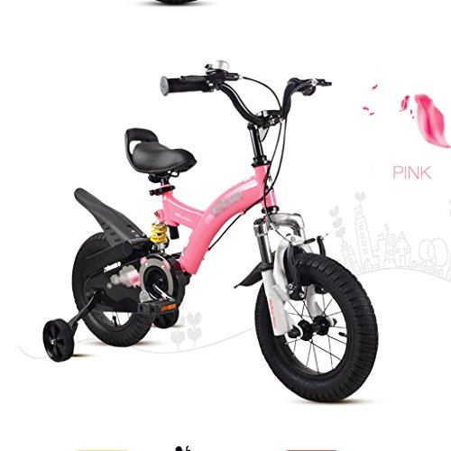 Bikes Bicycle 2-10 Years Old Baby Girl Stroller 12 inch, 14 inch Pedal Tricycle (Color : Pink, Size : 14 inches) (Double Stroller Bike)