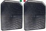 Cenni 35718 Set 2 Tappetini Auto in Gomma a Vaschetta 43 x 54, Salva Tappeti Made in Italy