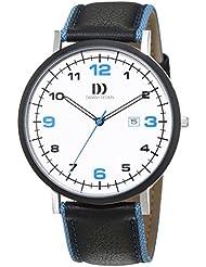 Danish Design - 3314478 - Montre Homme - Quartz - Analogique - Bracelet cuir noir