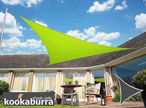 Kookaburra Voile d'Ombrage Imperméable 3,0m Triangle Vert Citron