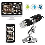 Kreema 40X-1000X Zoom USB Digital Mikroskop 8LED Licht Endoskop Lupe Videokamera mit Ständer