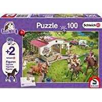 Schmidt 56190 Horse Ride into the Countryside Jigsaw Puzzle plus 2 Schleich Figures (100-Piece)
