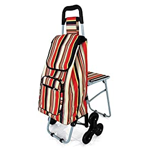 Tri Wheels Leisure Shopping Trolley with Fold Down Seat (Eligible for VAT relief in the UK)