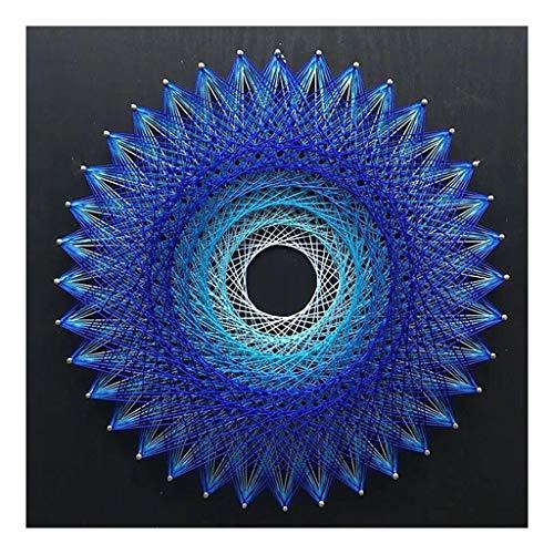 perfk String Art Kit Starter String Kunst Kit Fadenkunst Schnurkunst für Kinder und Erwachsene - Vogelnest - Blau
